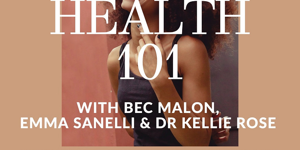 Women's Health 101 - What we need to know to take control of our health and perform at our best!
