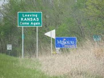 Landmark: Kansas/Missouri Border