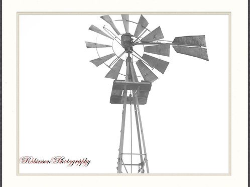 Windmill - Framed & Matted