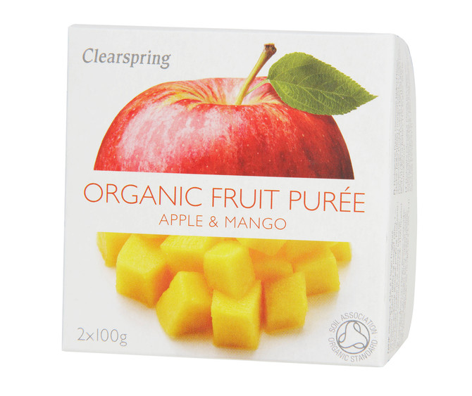 Apple and Mango Frozen Tofu Dessert -with Clearspring's Organic Fruit Purees