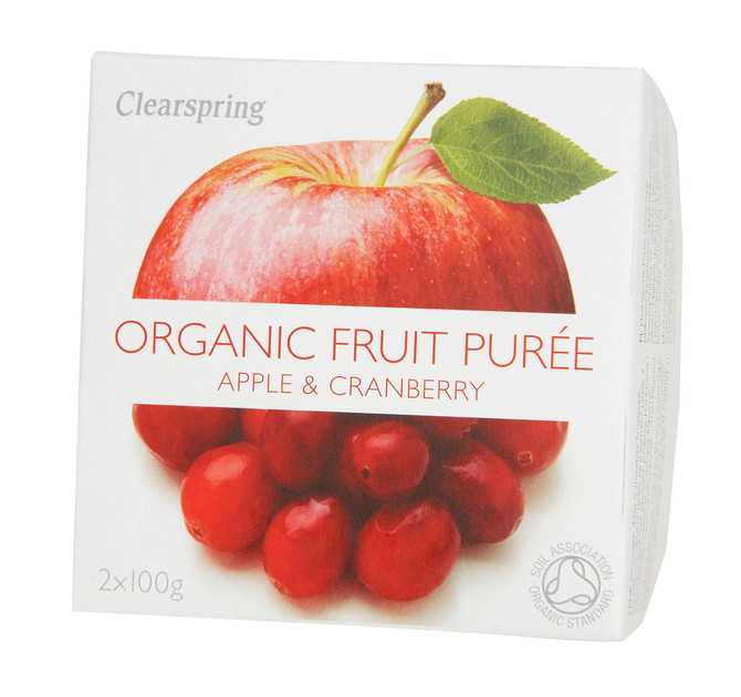 Apple, Cranberry and Sake Blended Cocktail -with Clearspring's Organic Fruit Purees