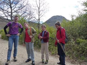 Jóvenes Montañeros en Cueto San Mateo