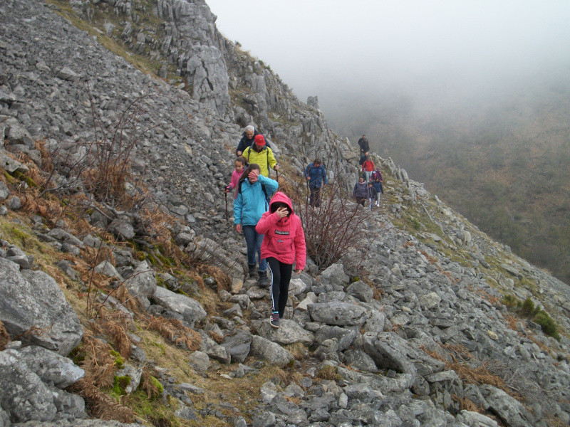Caminando por la ladera