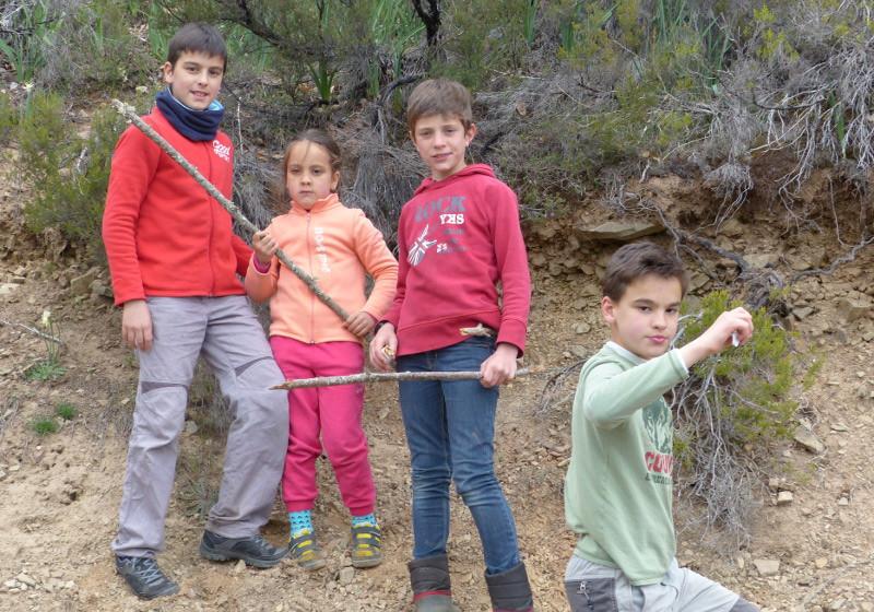 Los chicos y sus palos