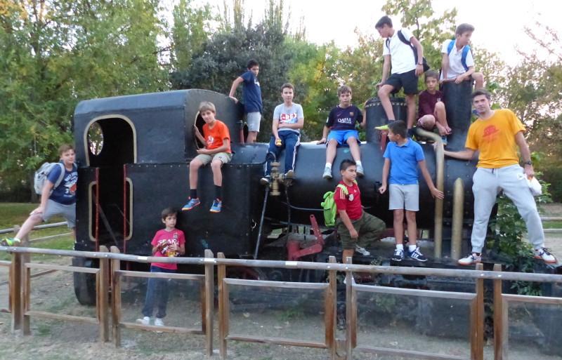 En la maquina de vapor