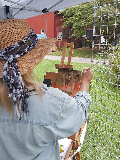 Woman Plein Air Painting