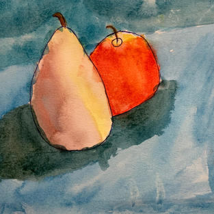 """""""Juicy Fruits"""", Clare Dimke (Watercolor on Paper)"""