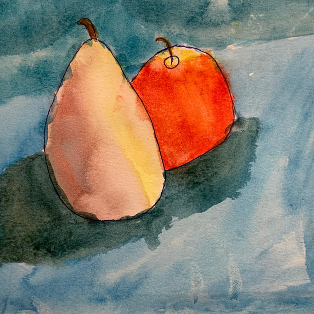 """Juicy Fruits"", Clare Dimke (Watercolor on Paper)"