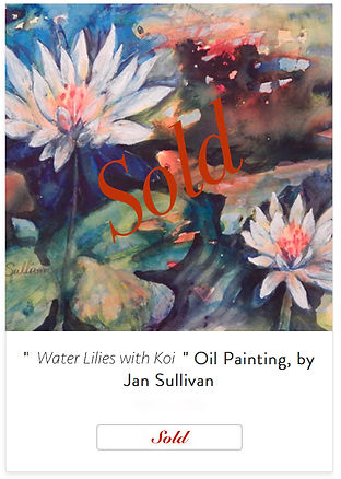 SOLD PAINTING - WATER LILIES WITH KOI.jp