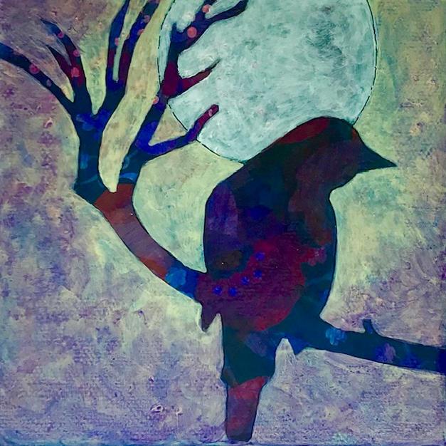 """The Nightingale Sings"", Laura Krentz (Mixed Media)"