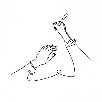 continuous-line-drawing-of-hand-writing-