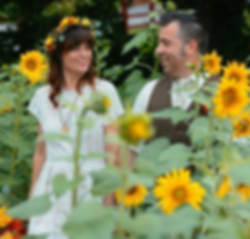 Outdoor Wedding Sunflowers