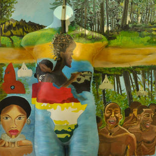 """""""Sacred Creation A Wake Up Call For Peace"""", Jesse Johnson (Oil on Canvas, and Mannequinn)"""