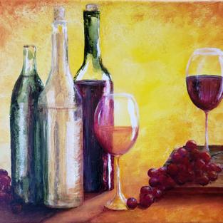 """Time for Wine"", Denise Kirkland (Acrylic Paint)"