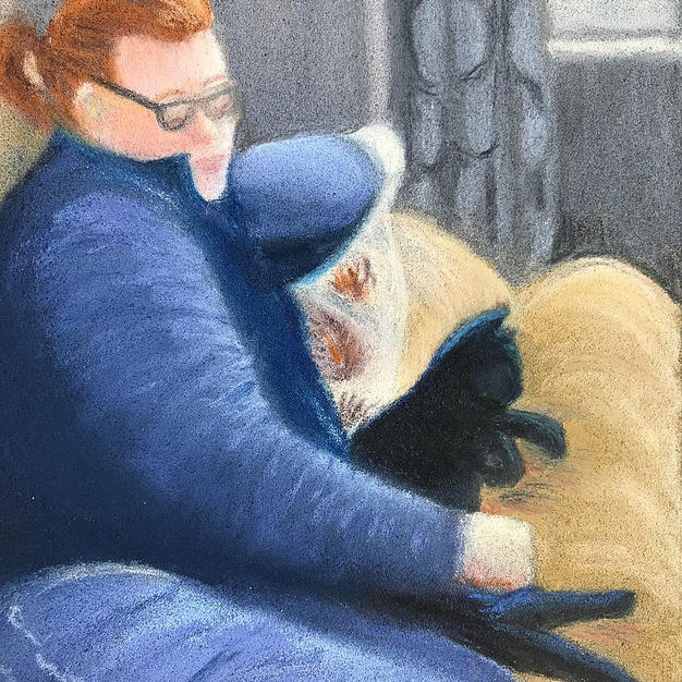 """Jodi and Jasper"", Mariann Straw (Soft Pastel/Pastel Pencil)"
