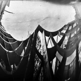 """""""Christopher Center Library"""", Michael Seefeldt (Paper negatives, homemade pinhole cameras, scanned and inverted, blended in Photoshop)"""