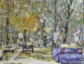 Eileen Sudzina, paiting, yupo, art class, workshop