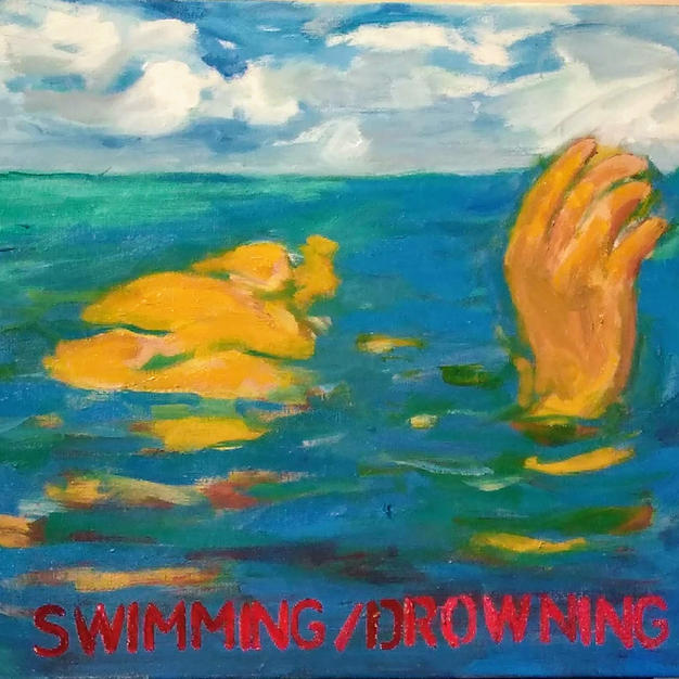 """Swimming/Drowning"", Diane Grams (Oil on Canvas)"