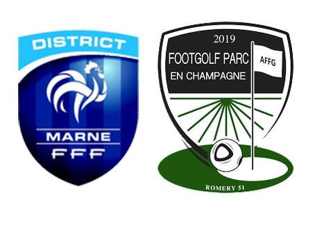 Association entre le Footgolf Parc en Champagne et le District Marne