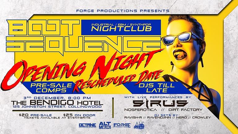 BOOT SEQUENCE NIGHTCLUB w/ SIRUS!
