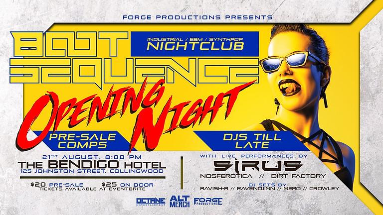 BOOT SEQUENCE NIGHTCLUB w/ SIRUS LIVE!