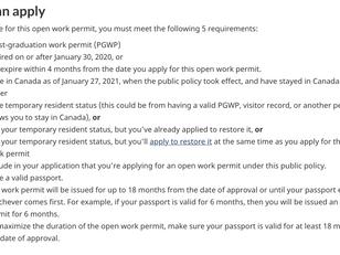 COVID-19 疫情下毕业后工作签证,谁获延期资格?