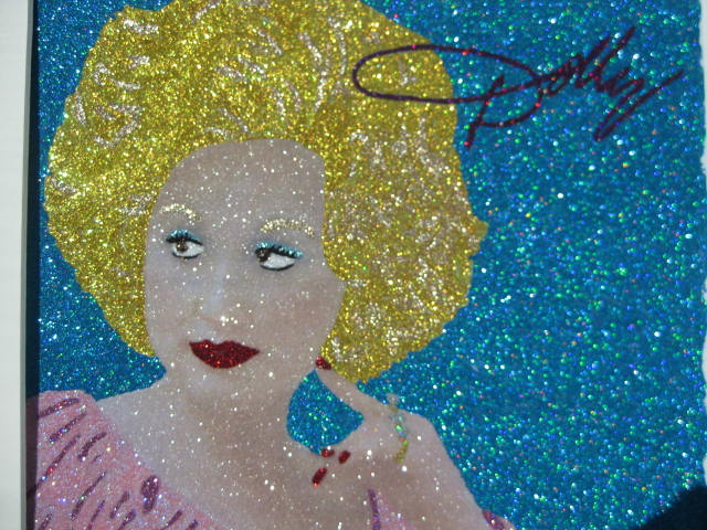 Glitter Pop Art Dolly Parton Art