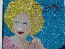 Glitter Pop Art Dolly Parton Art