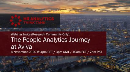 The People Analytics Journey at Aviva