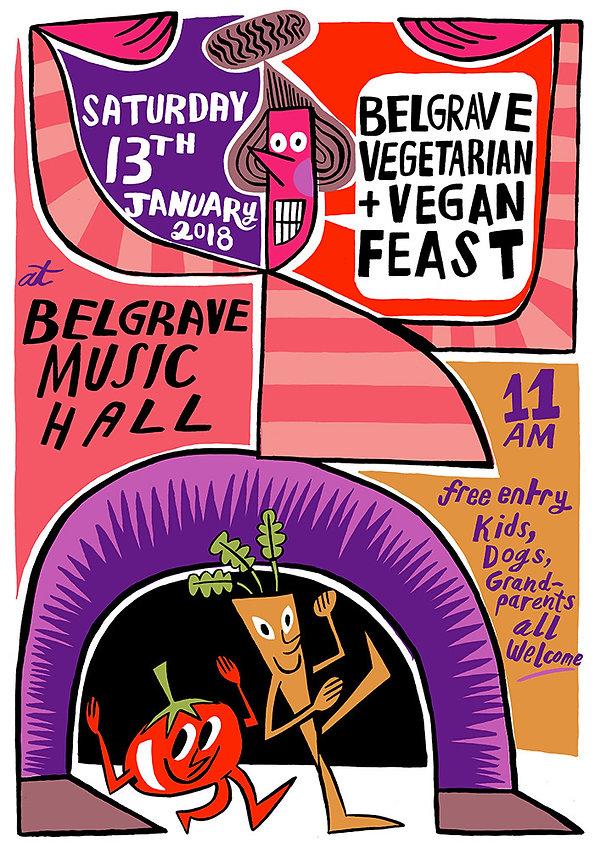 Belgrave Vegetarian + Vegan Feast poster