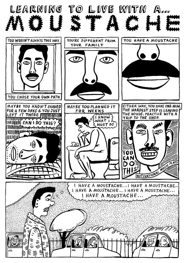Learning To Live With A Moustache