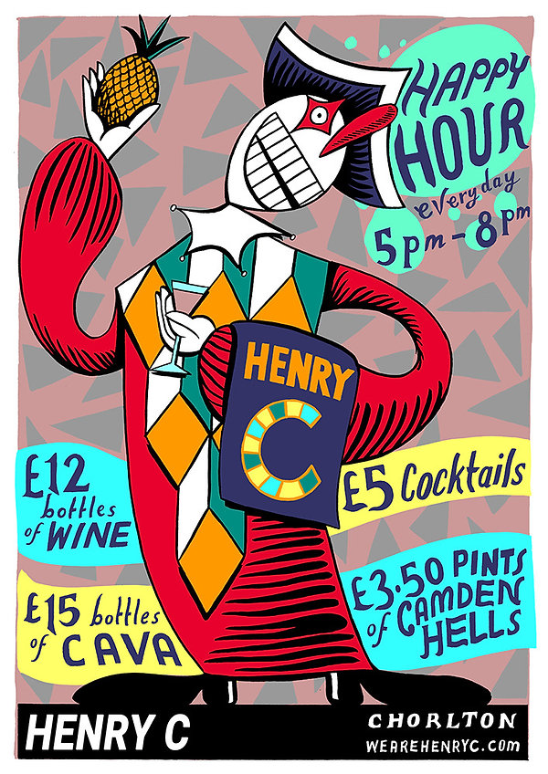Henry C Happy Hour Poster