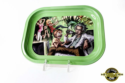 Rick and Morty Green Rolling Tray