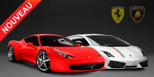 Duo Ferrari F458 et Lamborghini LP550-2