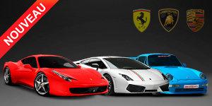 Trio Ferrari F458+Lamborghini LP550-2+Porsche 993