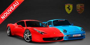 Duo Ferrari F458 et Porsche 993