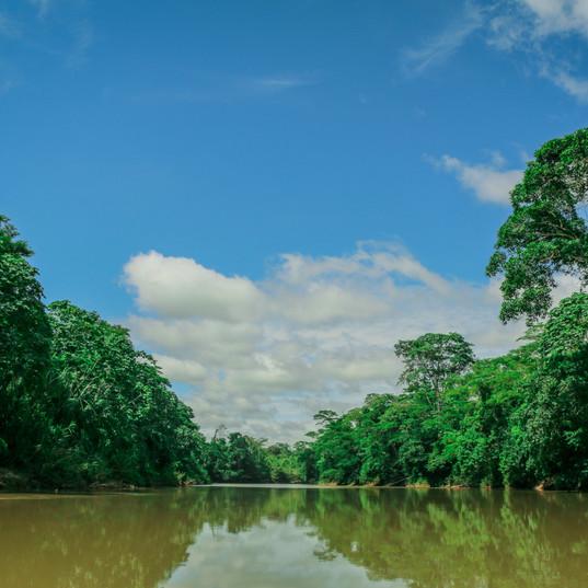 Llegando al Río Chia