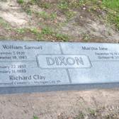 Dixon Cremation Marker