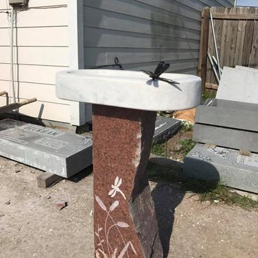 Dragonfly Birdbath