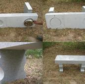 E Grey Cremation Bench