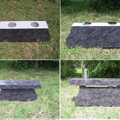 Cremation bench set up