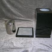Square Vase Urn Assembly