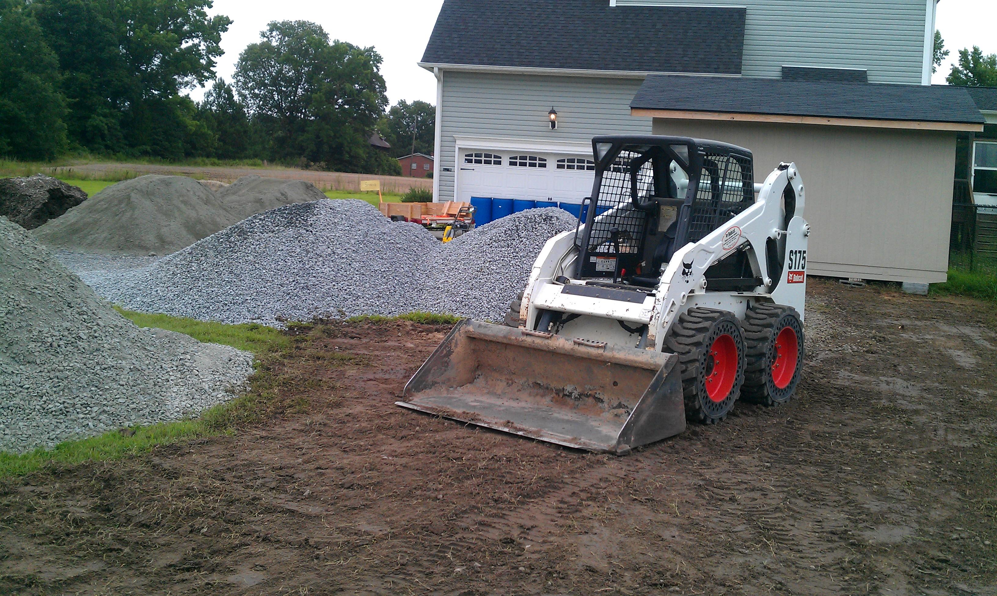 Grading gravel