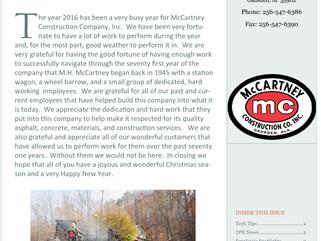 Winter Company Newsletter