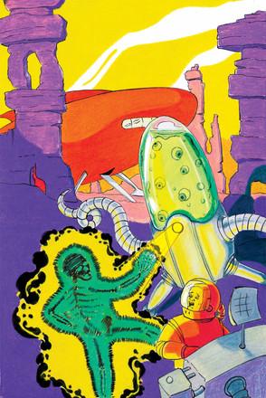 SCI-FI CONCEPT ART FOR COMIC BOOK COVER