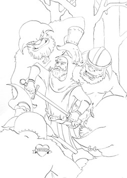 LINE ART FOR KNIGHTS AND ORCS