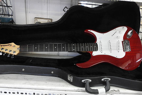 Sammick Artist series Electric Guitar virtually  as new in quality hard case