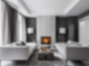 Contemporary-black-and-gray-living-room-