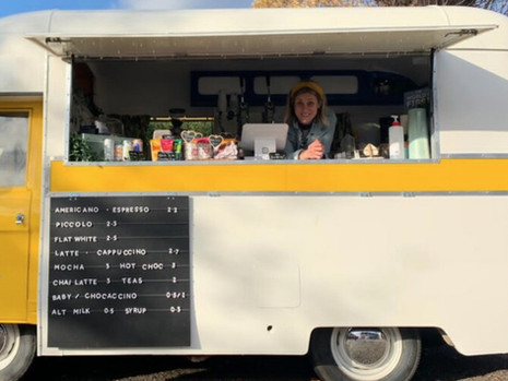 The Yellow Van of Happiness - Commer Coffee