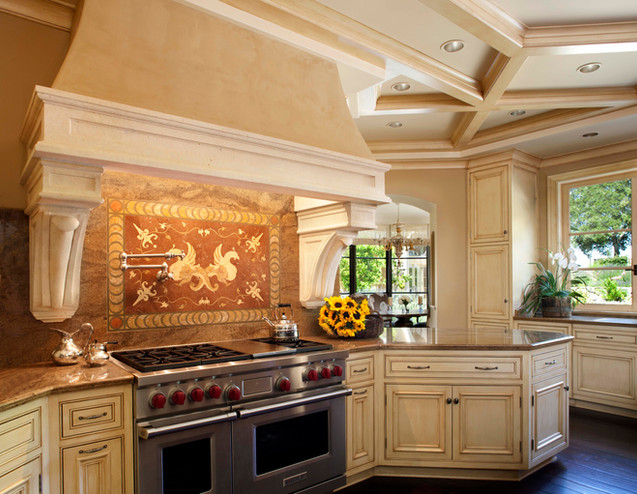 Modern Tuscan-style Kitchen